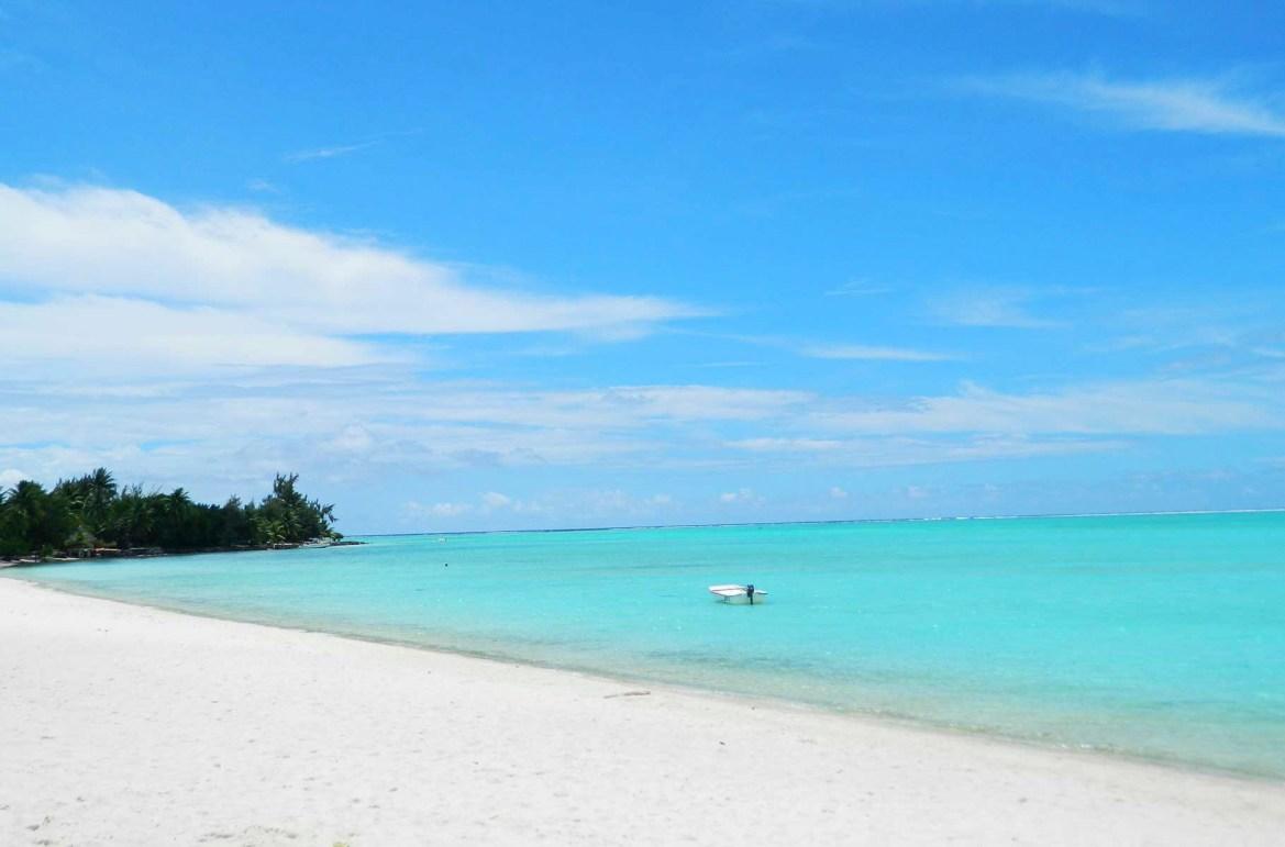 Praias mais lindas do mundo - Praia de Matira, na Ilha de Bora Bora (Polinésia Francesa)