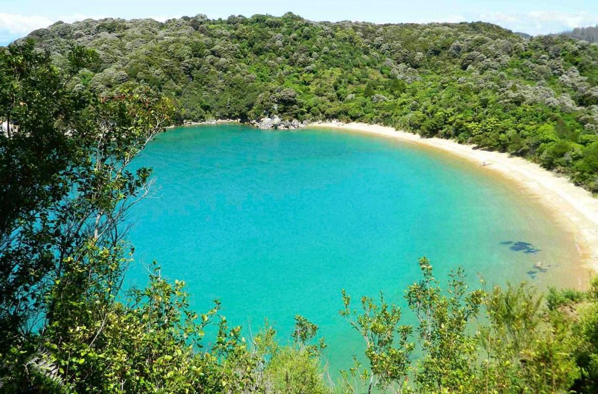 Praias mais lindas do mundo - Praia Te Pukatea, no Parque Nacional Abel Tasman (Nova Zelândia)