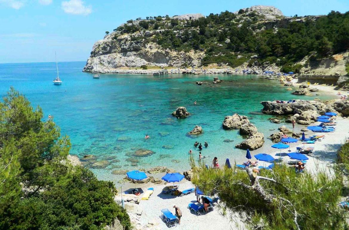 Praias mais lindas do mundo - Anthony Quinn's Bay, na Ilha de Rhodes (Grécia)