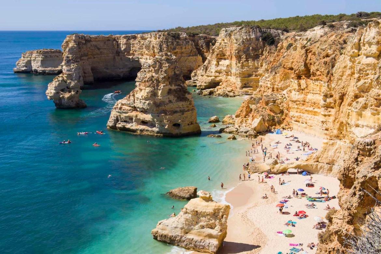 Praias mais lindas do mundo - Praia da Marinha, no Algarve (Portugal)
