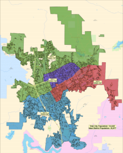 Escondido City District Map