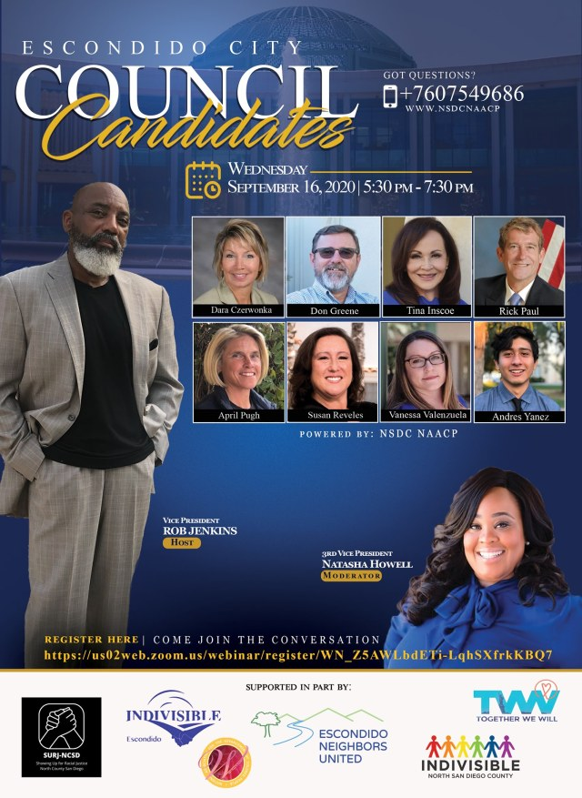 NSDC NAACP's Meet the Candidate Forum (Escondido)