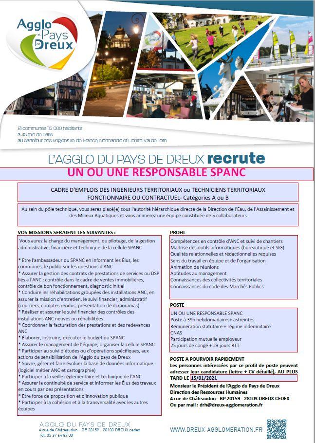 diffusion de deux nouvelles offres d emploi agglo du pays de dreux mairie d escorpain