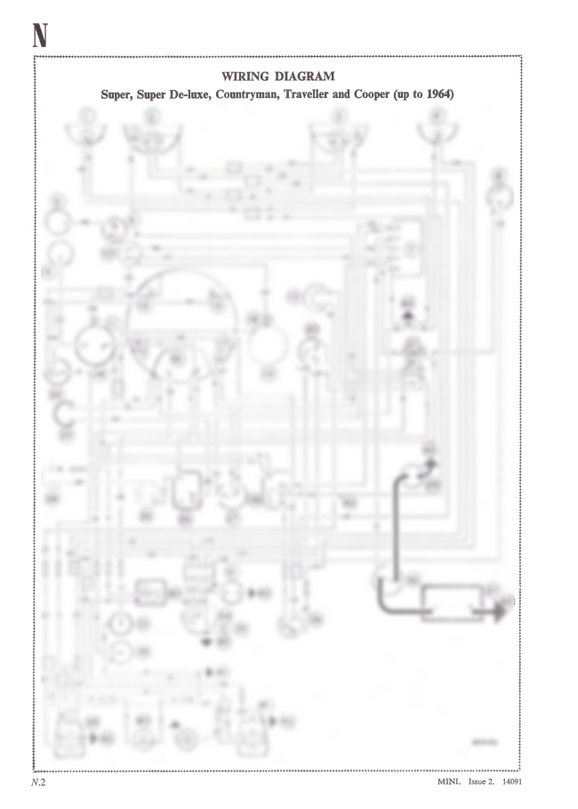 Mini Super, Countryman, Traveller & Cooper Wiring Diagram