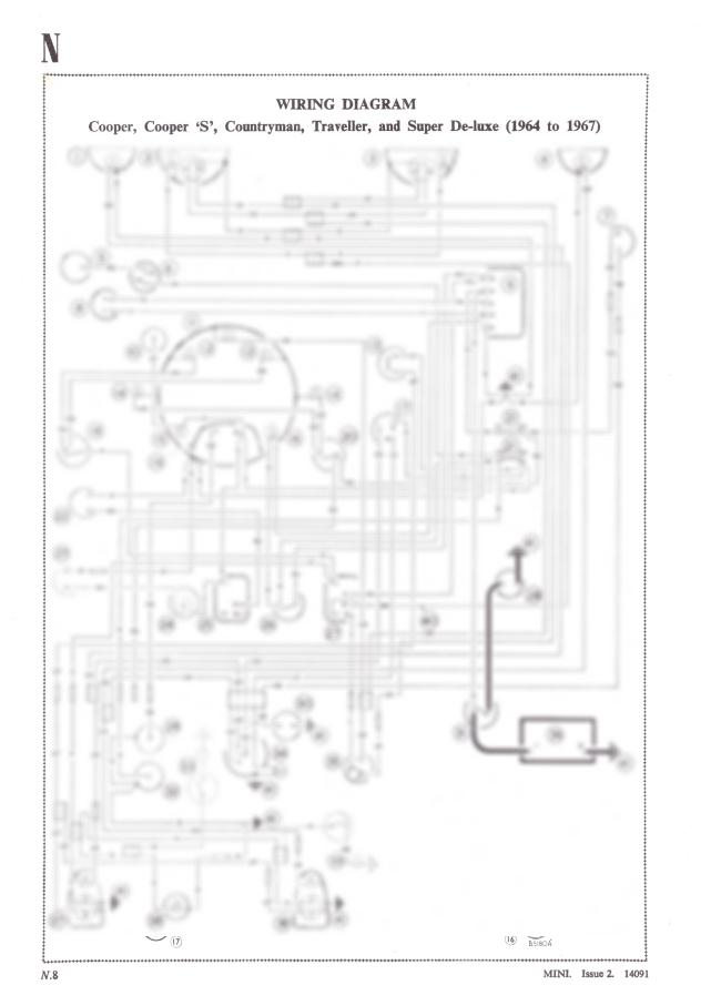 Classic Mini Cooper Cooper 'S' Contryman A3 Wiring Diagram