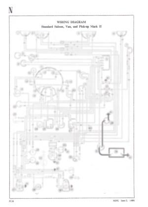 Classic Mini Standard Saloon, Van and Pickup A3 Wiring Diagram Dynamo Models | eBay