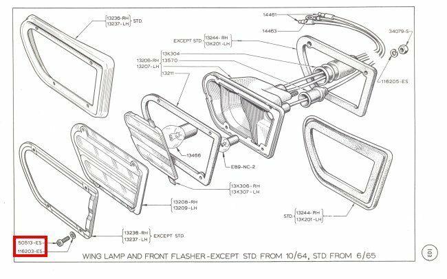 Mk1 Cortina Stainless Airflow Front Indicator Lens Screws