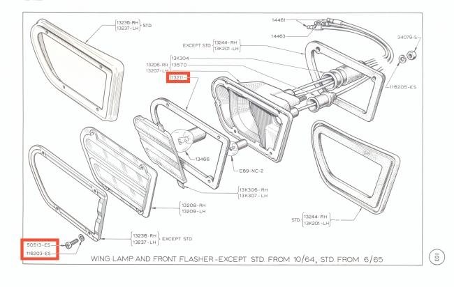 Mk1 Cortina Front Indicator Lens Seal Set Lotus GT Butlers