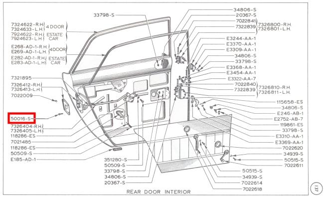 Mk1 Cortina Door Lock Screws GT Lotus Brand Spanking New