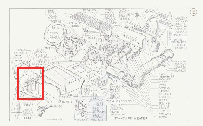 Mk1 Cortina Heater Matrix Plate Seal GT Lotus BRAND