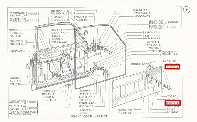 Mk1 Cortina Interior Door Handle Screws GT Lotus Brand NEW
