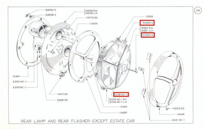 Mk1 Cortina Rear Light Lens Screw Set All Stainless Steel