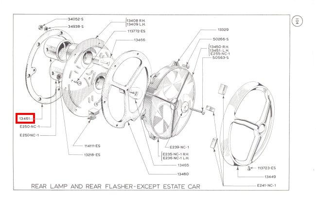 Mk1 Cortina Rear Light Body Seals GT Lotus TVR Grantura