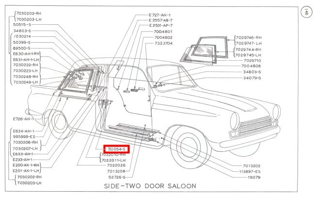 Mk1 Cortina Door Striker Plate Screws GT Lotus Brand