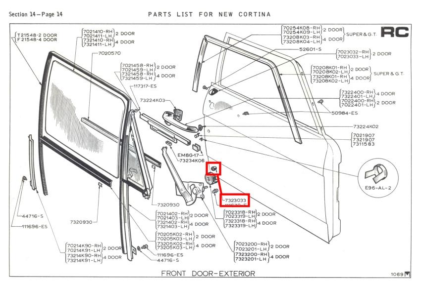 Front Door Bumper Cones (Pair) Mk2 Cortina GT Lotus Savage