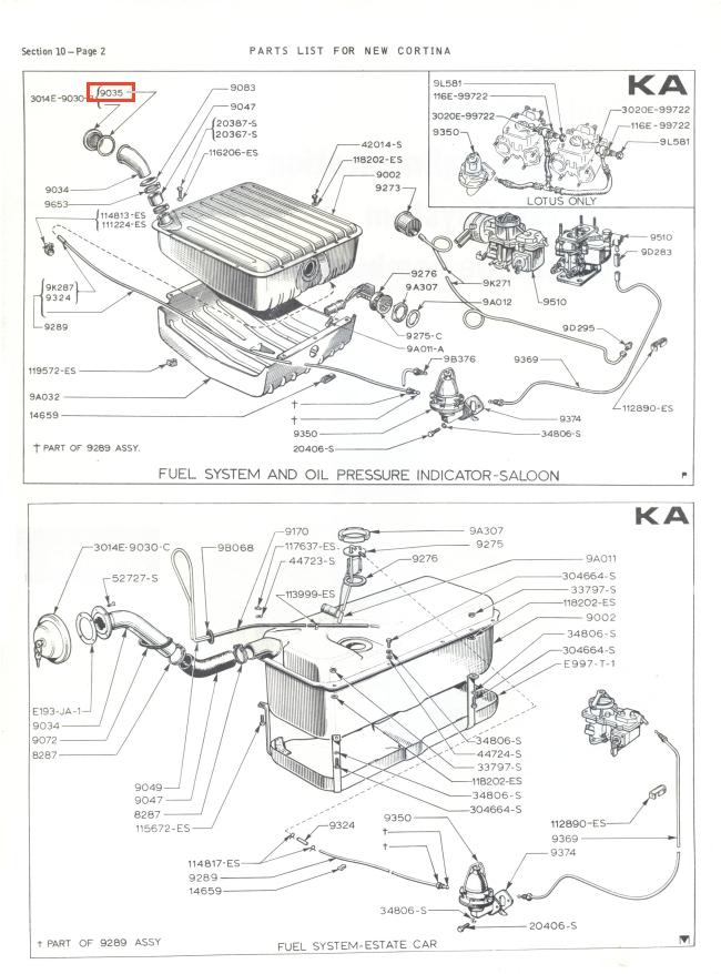 Mk2 Cortina Petrol Cap Seal (Locking) GT Lotus Savage