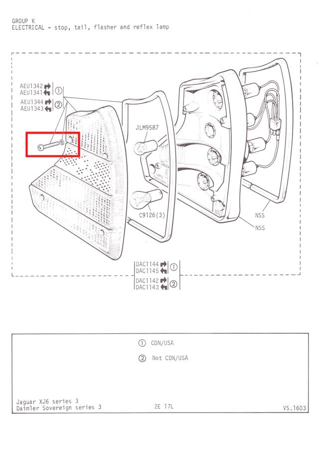Lucas 942 Rear Light Lens Stainless Screws x 8 Rubber