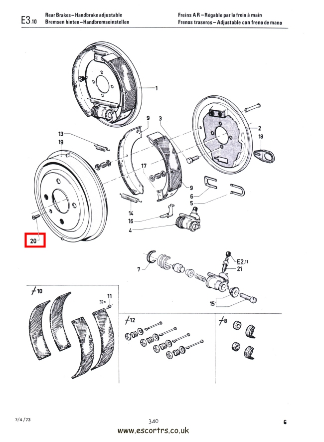 Mk1 Escort Brake Drum Screws Stainless Steel Mexico Twin