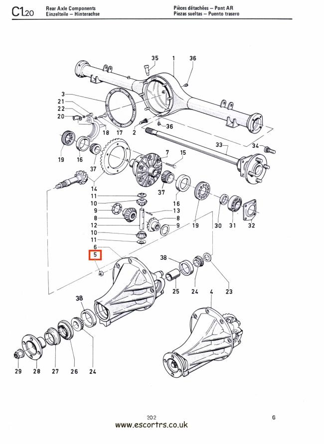 Differential Locking Nuts (Philidas) Mk1 & Mk2 Escort