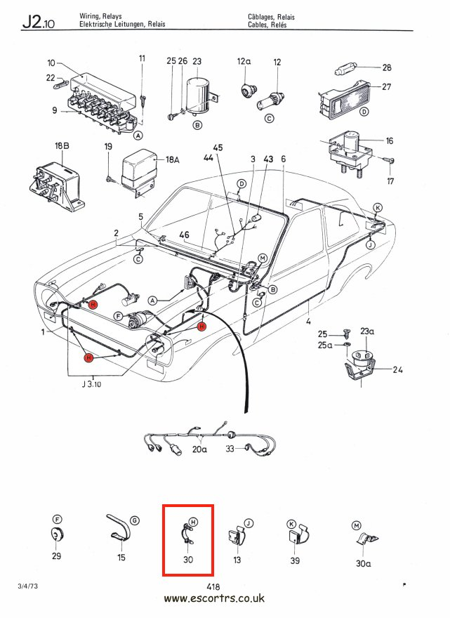 ford wiring loom clips