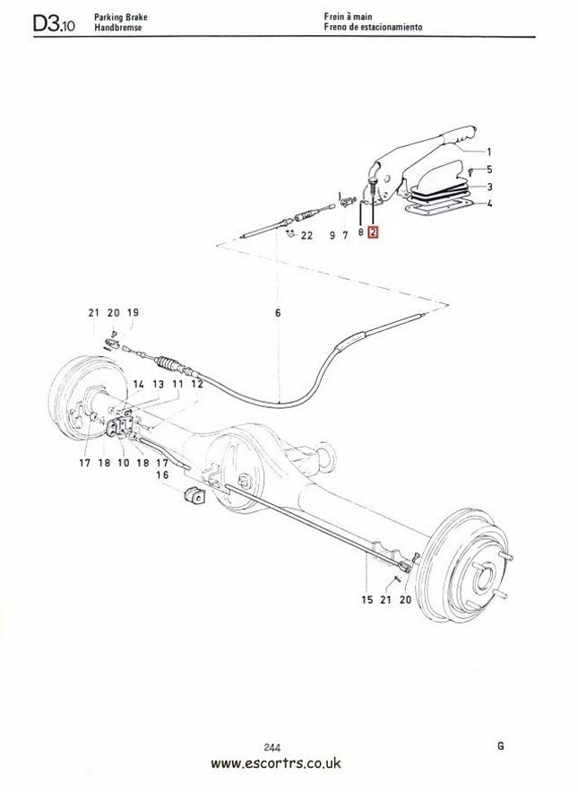 Hand Brake Lever Bolts Stainless Steel Mk1 Escort RS2000