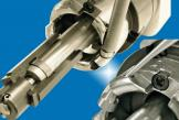 Membrane and overlay tool bits are easily installed and canbe rotated for maximum blade life