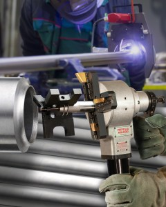 Pipe Beveling Machine Creates J Preparation For Orbital Welding Esco Tool