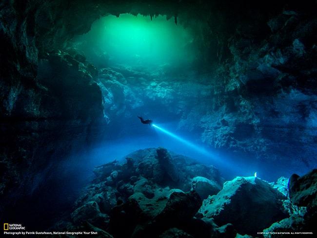 Intuição de um mergulhador