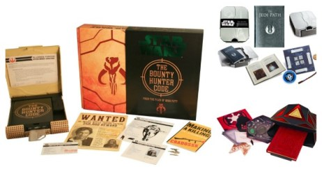 "Kits americanos: ""The Bounty Hunter Code"", ""The Jedi Path"" e ""The Book of Sith"""