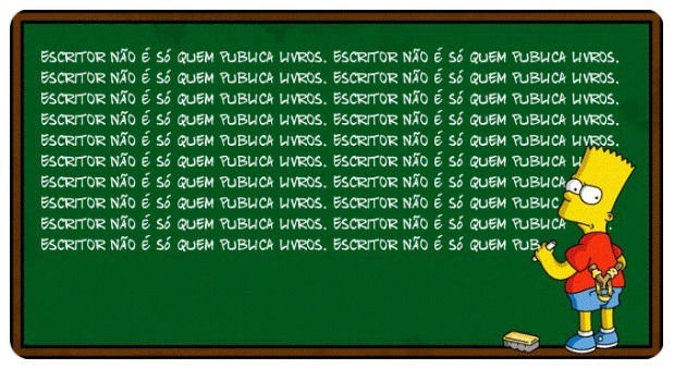 Quadro Negro do Bart Simpson