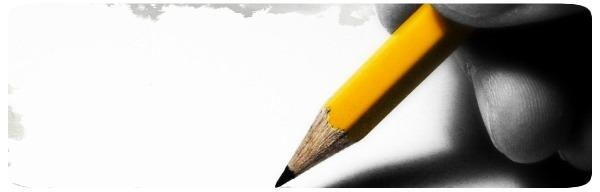 Lápis e Folha em Branco