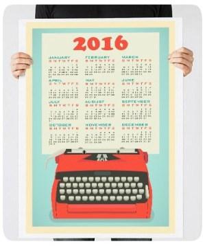 Calendário de Escritor
