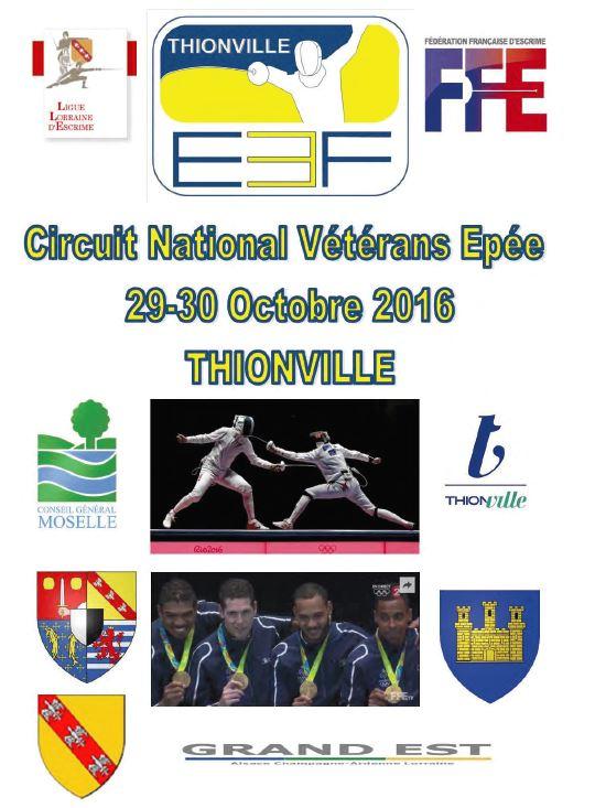 29 octobre 2016 à Thionville : circuit national vétéran épée