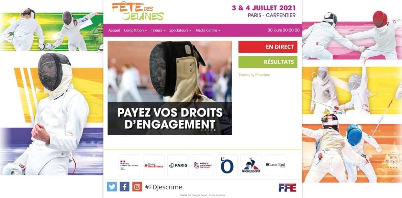 3 et  4 juillet 2021 à Paris : Fête Des Jeunes 2021 avec deux paticipants