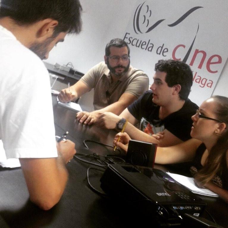 Equipo del cortometraje 'La Cita' Curso de Cine 4k 2015