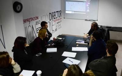Los alumnos de la Escuela de Cine de Málaga sobre la Masterclass de Gervasio Iglesias