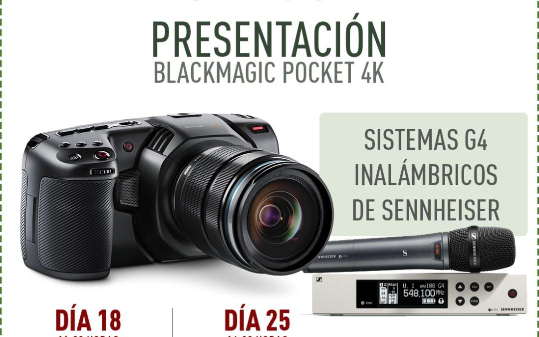 Presentación de la Pocket 4K y Serie G4 de Sennheiser