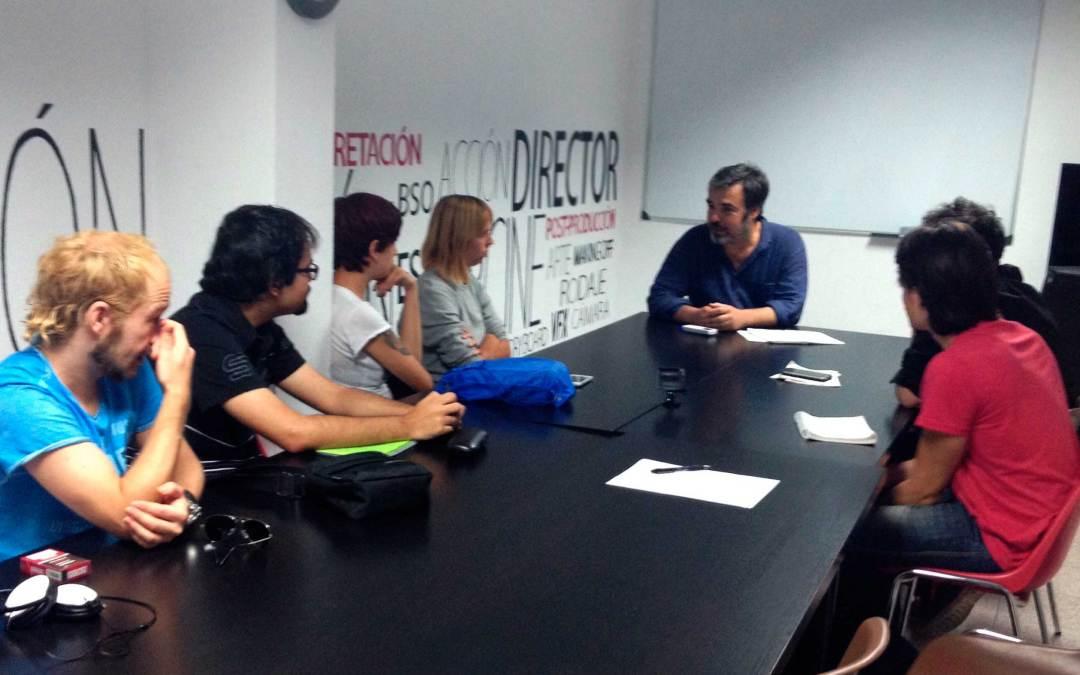 Los alumnos de Cine comienzan la etapa de producción con José Antonio Hergueta