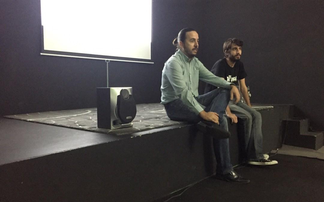 F.J.Arranz proyectó sus cortometrajes en la Escuela de Cine de Málaga