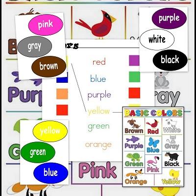 Colores en inglés. Colors