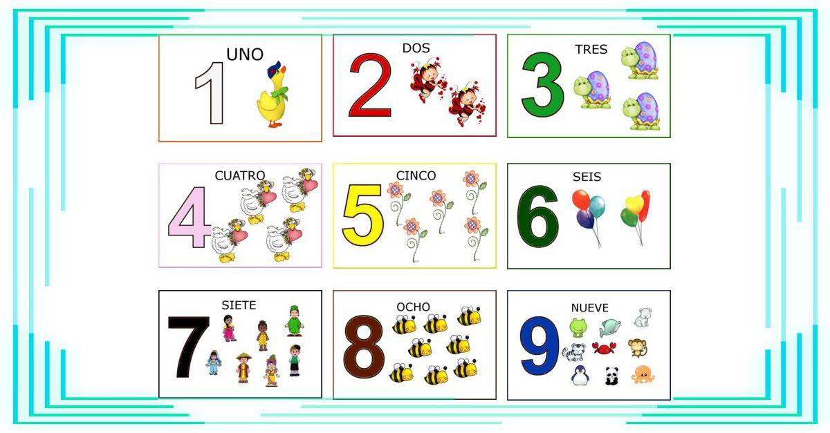 Fichas Con Los Números Del 1-9