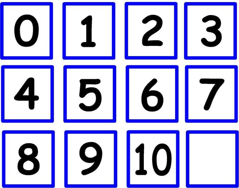 números para las tarjetas