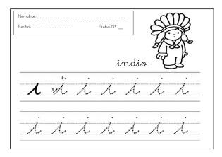 grafomotricidad, fichas escritura, trazos