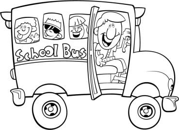 3autobuses para colorear