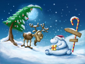 Happy_Xmas_Polar_bear___moose_by_Tooshtoosh