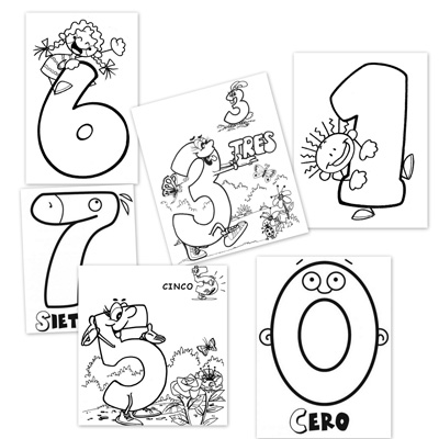 Recursos para el aula: Números para colorear