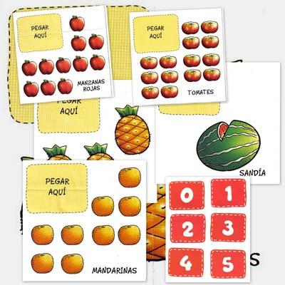 contar, numeros, frutas