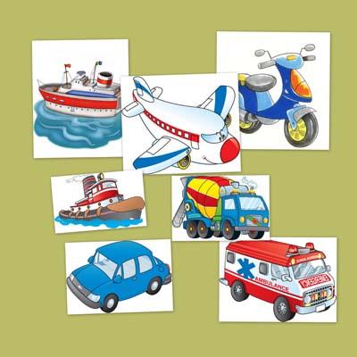 Fichas de transportes, bits de transportes, transportes