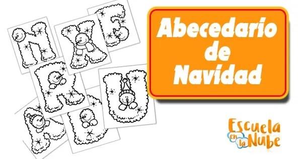 Letras de Navidad para colorear Abecedario Navideño