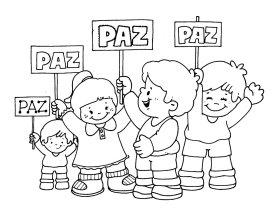 dibujos para colorear, dia de la paz, colorear la paz, actividades dia de la paz